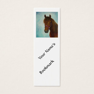 Bookmark, Chichi, a Bay Paso Fino Mare Mini Business Card