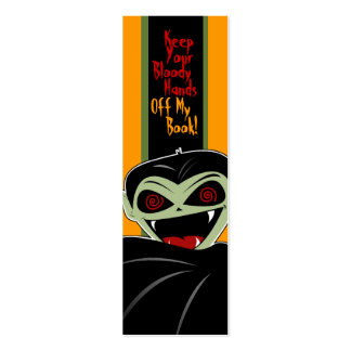 Bookmark Dracula Vampire Halloween Bloody Custom Business Card Templates