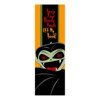 Bookmark Dracula Vampire Halloween Bloody Custom Mini Business Card