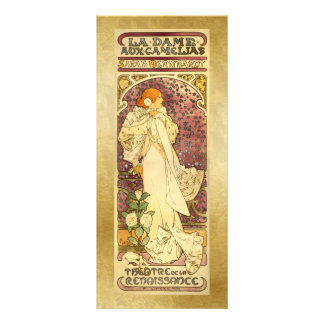 Bookmark Gift Card - La Dame aux Camé - Mucha Custom Rack Cards
