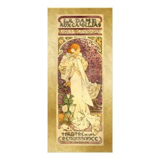 Bookmark Gift Card - La Dame aux Camé - Mucha Rack Cards