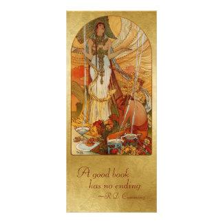 Bookmark Gift Card - Salammbô - Alfons Maria Mucha Personalized Rack Card