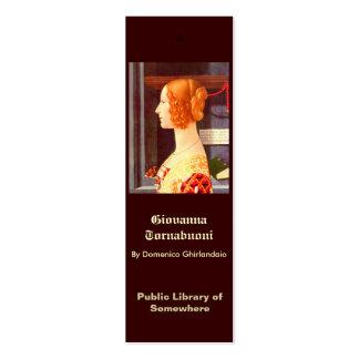 Bookmark - Giovanna Tornabuoni Business Card Template