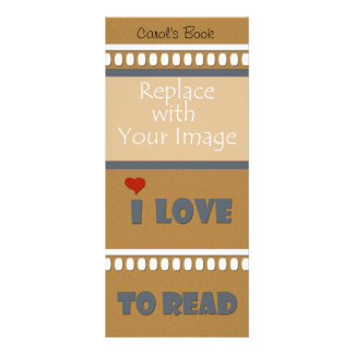 Bookmark I Love to Read Rack Card