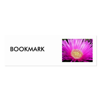 Bookmark, Iceplant Blossom Double-Sided Mini Business Cards (Pack Of 20)