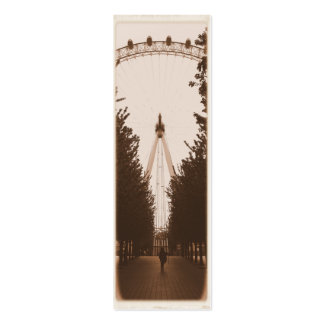 Bookmark - London Eye - Pack of 20 Double-Sided Mini Business Cards (Pack Of 20)
