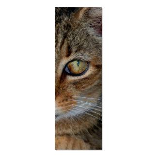 "Bookmark or profile card ""Cats Rule"" Mini Business Card"