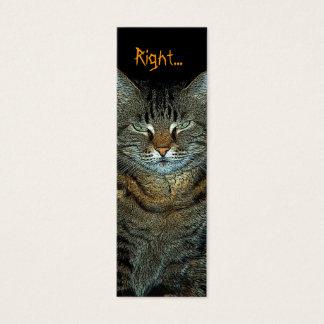 bookmark or profile card- mad cat mini business card