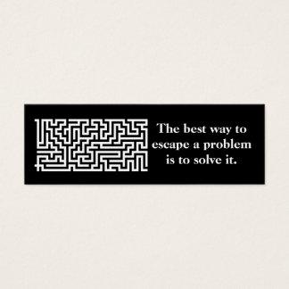 Bookmark or profile card- problem solver 2 mini business card