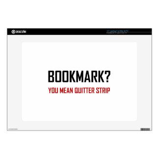 Bookmark Quitter Strip Laptop Decals