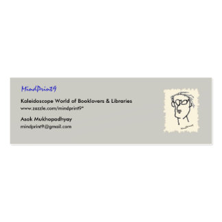 Bookmark Read-Think-Share Double-Sided Mini Business Cards (Pack Of 20)