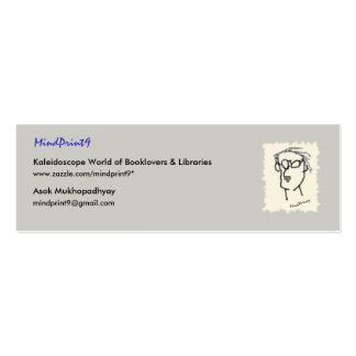 Bookmark Read-Think-Share Mini Business Card