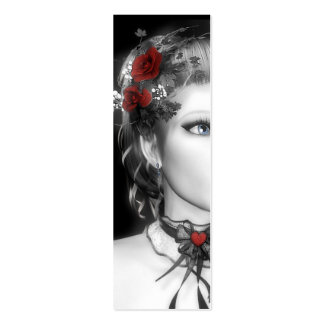 Bookmark Red Rose Business Card