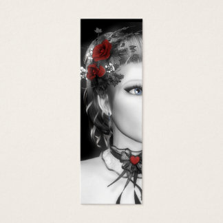 Bookmark Red Rose Mini Business Card
