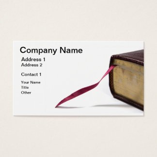 Bookmark Ribbon Business Card