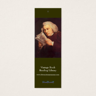 Bookmark - Samuel Johnson Mini Business Card