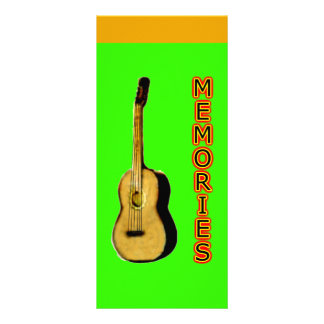 Bookmark Songs Sung Memories Shared Rack Card Template