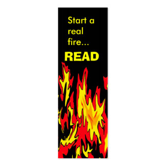 Bookmark   Start a real fire..., READ Mini Business Card