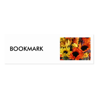 """Bookmark, """"Sunflowers"""" Double-Sided Mini Business Cards (Pack Of 20)"""