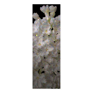 bookmark syringa and daffodil Double-Sided mini business cards (Pack of 20)