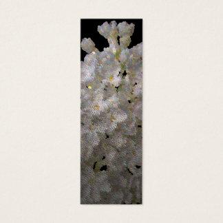 bookmark syringa and daffodil mini business card