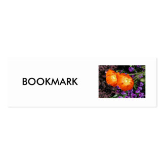 Bookmark, Two California Poppies Mini Business Card