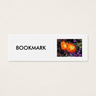 Bookmark, Two California Poppies Mini Business Card