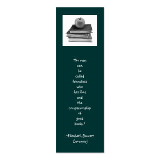 BOOKMARK WITH BROWNING QUOTE: Pencil Art Mini Business Card