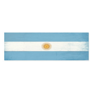 Bookmark with Distressed Flag from Argentina Mini Business Card