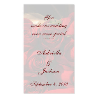 "Bookmark - ""You Made Our Wedding...."" Business Card Templates"