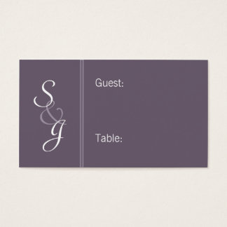 Bookmarked Reception Seating Cards-eggplant Business Card