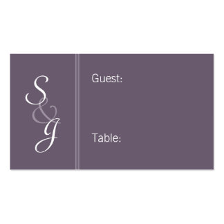 Bookmarked Reception Seating Cards-eggplant Business Card Template