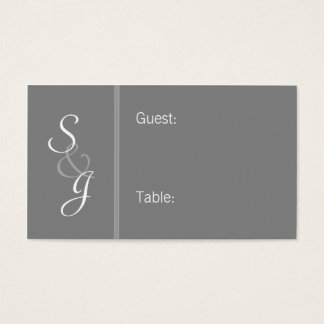 Bookmarked Reception Seating Cards-gray Business Card