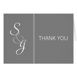 Bookmarked Thank You Note-gray Card