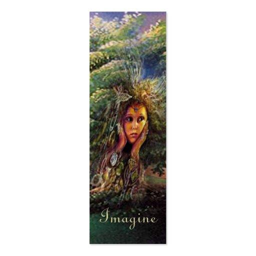 Bookmarker de la ninfa del árbol tarjetas de visita mini