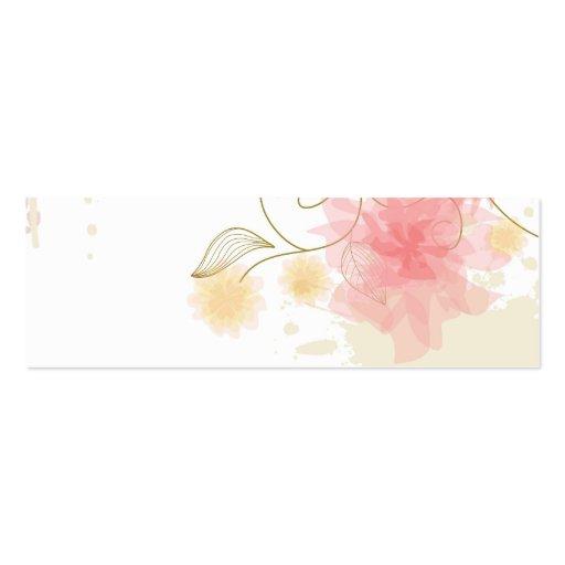 Bookmarker delicado de las flores plantilla de tarjeta personal