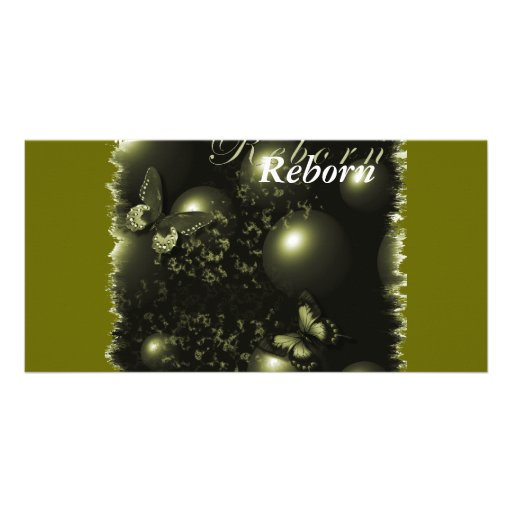 Bookmarker verde del navidad renacido tarjeta fotográfica