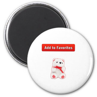Bookmarks and favorites 2 inch round magnet