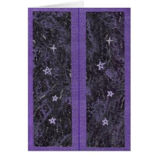 Bookmarks Purple Starry Night Card
