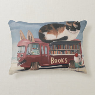 Bookmobile Decorative Pillow