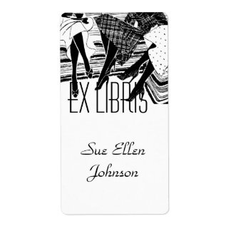 Bookplate Book Club Group Ex Libris Name Labeling Shipping Label