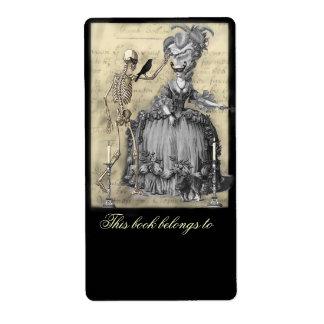 Bookplate de la bola de mascarada de Halloween Etiquetas De Envío