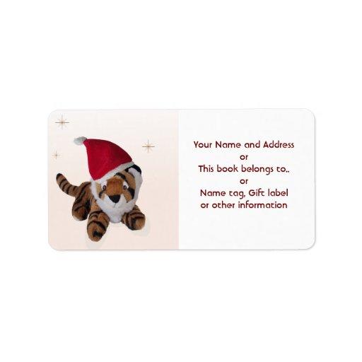 Bookplate de la etiqueta del regalo del nombre del etiquetas de dirección