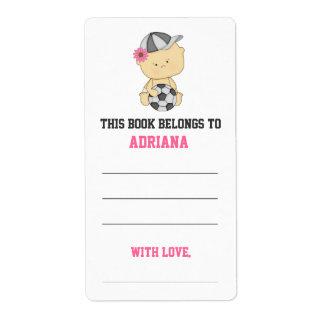 Bookplate de la fiesta de bienvenida al bebé del etiqueta de envío