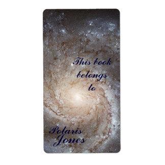 Bookplate de la galaxia etiqueta de envío