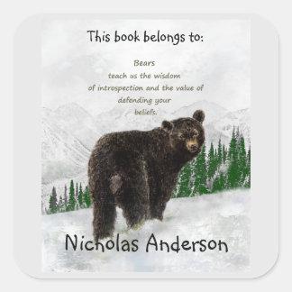 Bookplate de la guía del alcohol animal del tótem