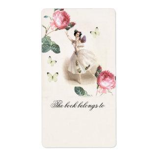 Bookplate de la hada   de la bailarina etiqueta de envío