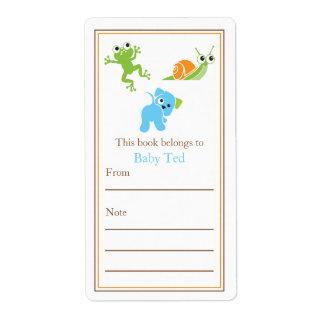 Bookplate de las colas el | de las ranas, de las v etiquetas de envío