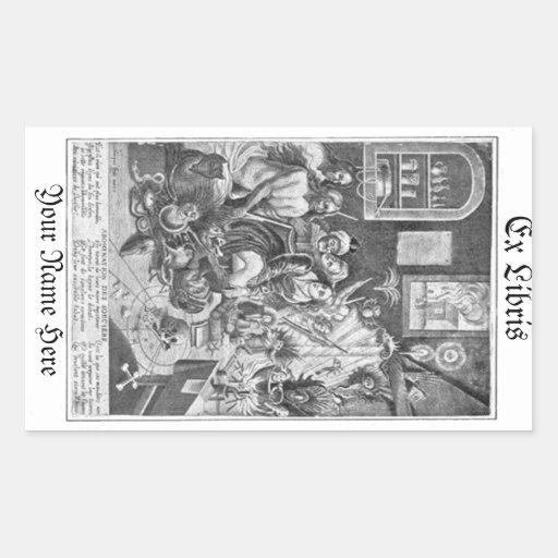 Bookplate de Libris de la brujería del grabar en m Pegatina