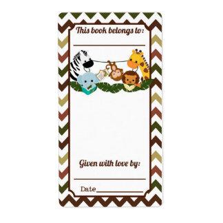 Bookplate de los compinches de la selva etiqueta de envío